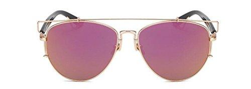 Vintage Retro Aviator Mirror Lens Sunglasses Purple - 9