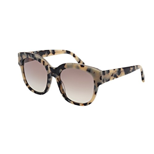 Stella Square - Stella McCartney Women's Top Chain Square Sunglasses, Vintage Havana/Grey, One Size