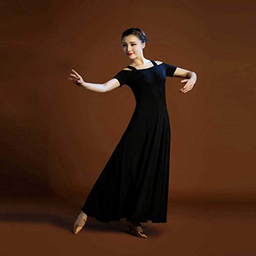 De Vestido Moderna Danza Yts Negro Mujer SZ07qaWvw