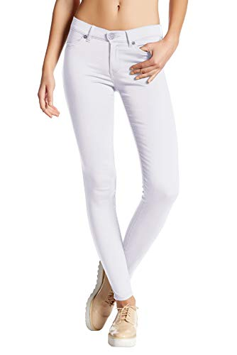 (Womens Super Stretch Comfy Skinny Pants P44876SKX White)