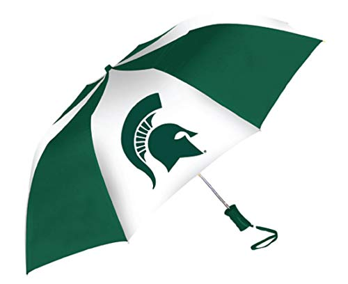 (Storm Duds Michigan State Spartans Sporty Two-Tone Umbrella)