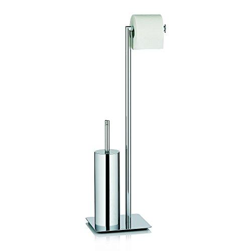 Kela 22490 Toilet Brush Set Style Collection, 28'' Tall/8'' Base, Metal Chrome by Kela