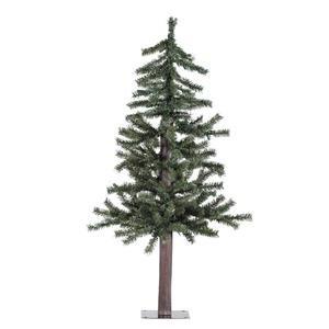 vickerman natural alpine tree unlit 3 feet green - Natural Christmas Tree