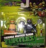 Minimates Teenage Mutant Ninja Turtles Michelangelo & Foot-Bot figures w/keyrings by Diamond