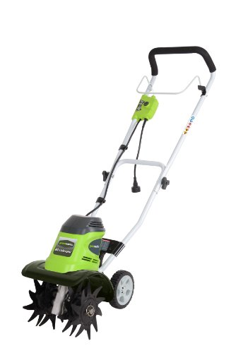 GreenWorks 27072 8 Amp 10-Inch Corded Tiller by Greenworks