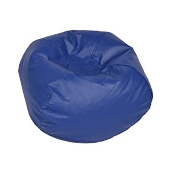 Classic Bean Bag Chair Color Blue Shiny