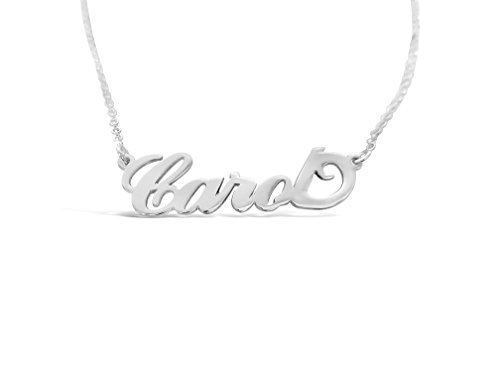 Personalized Carol Name Necklace, Custom made in stock, Sterling Silver