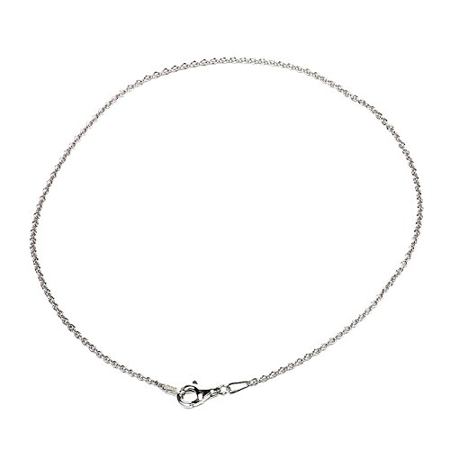 815 Key Cable - 925 Sterling Silver 1.50 mm Cable Bracelet Chain with Pear Shape Clasp-Rhodium Finish