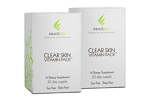 Clear Skin Advanced Vitamin Pack for Acne - 60 Day Supply of Vitamins for Acne (Best Vitamins For Clear Skin)