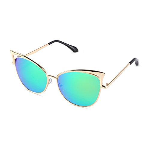 Pession Women's Fashion Flash Mirror Vintage Cat Eye - Cheap Vintage Cat Eye Glasses