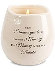 Pavilion Gift Company 19194 When Someone You Love Becomes a Memory That Memory Becomes a Treasure 8 oz Soy Filled Ceramic Vessel Candle