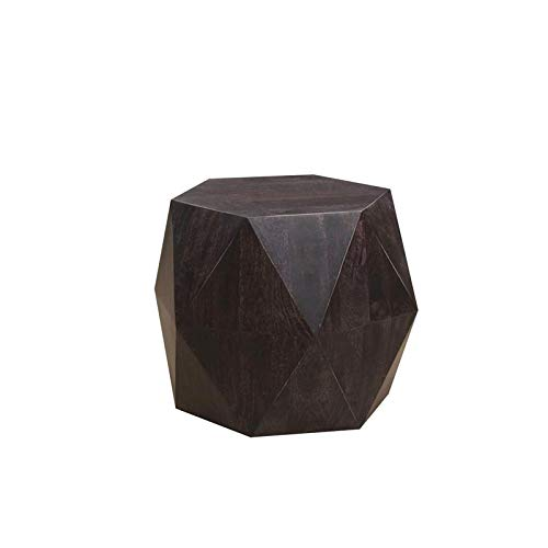 Hawthorne Collections Prism Noir Contemporary Geometric End Table
