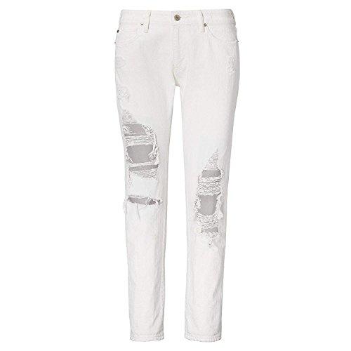RALPH LAUREN Denim & Supply Women's Bradshaw Low-Rise Skinny Boyfriend Jeans (24, White)