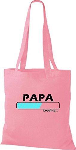 Jute Stoffbeutel Papa Loading viele Farben rosa QwAkRB