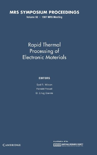 Rapid Thermal Processing of Electronic Materials: Volume 92 (MRS Proceedings)