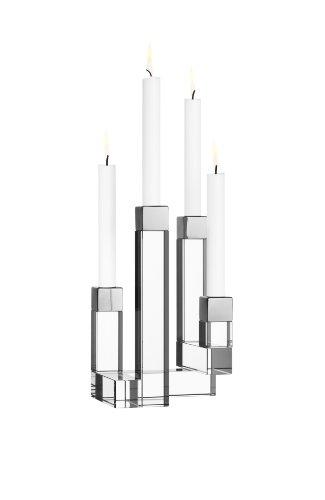 Orrefors 4-Arm Chimney Candleholder