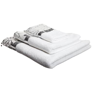 Popular Bath Phoenix Silver 3-Piece Towel Set