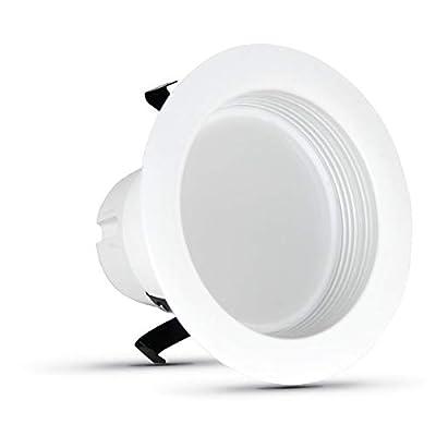 "FEIT Electric Enhance LED Retrofit Kit Recessed Light, 4"" 50W Equivalent Natural Daylight (5000K) (LEDR4B/950CA/MP/6)"