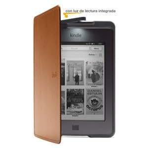 Funda de cuero con luz Amazon para Kindle Touch, color marrón claro (sólo sirve para el Kindle Touch)