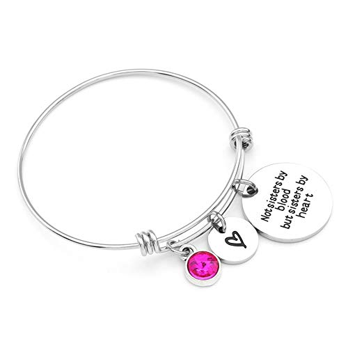 Crystal Gold Bangle Bracelet for Women Expandable Bangle Inspirational Gifts for Teenage Girls Charm Bracelet Stainless Steel Bangle Romantic Jewelry for Women Ideal Christmas Jewelry Gift for Grandma