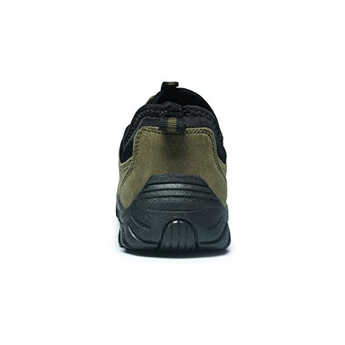 Scurtain Heren Casual Lichtgewicht Suede Outdoor Antislip Ouderen Walking Sneaker Schoenen Groen