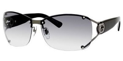 Gucci Women's 2820/F/S Wrap Sunglasses,Shiny Dark Ruthenium Frame/Grey Gradient Lens,One - Discount Gucci
