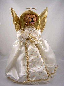 Amazon Com Golden Retriever Angel Tree Topper Home Kitchen - Christmas Tree Angel Toppers