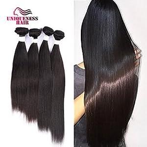 Uniqueness Hair Peruvian Straight Hair 4 Bundles 24