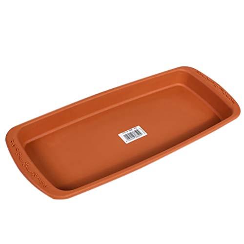 (URYY Plastic Rectangular Planter Tray Flower Plant Pot Container Pot Saucer Pallet)