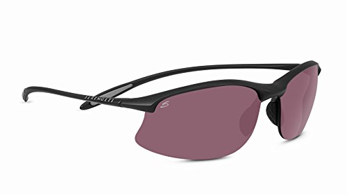 Serengeti Maestrale Sunglasses, Satin Black (Serengeti Satin Sunglasses)