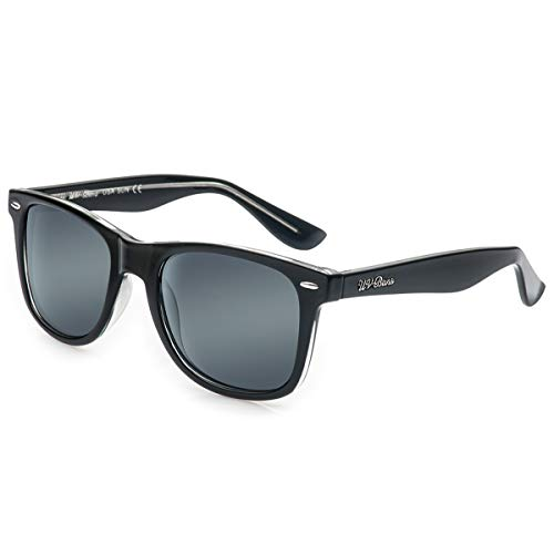 UV-BANS Wayfarer Sunglasses for Men, Black (Cut Off Your Nose Despite Your Face)