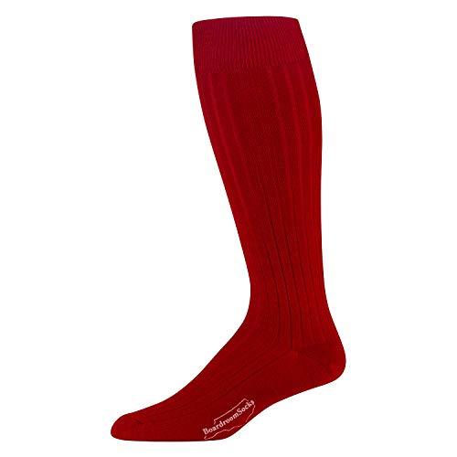 (Boardroom Socks Men's Over the Calf Merino Wool Ribbed Dress Socks)