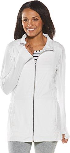 (Coolibar UPF 50+ Women's Cruise Jacket - Sun Protective (X-Large- White))