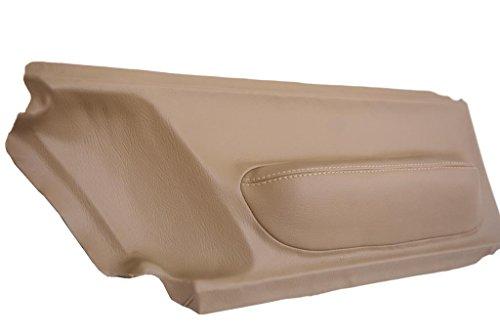 (Fits 1998-2010 Volkswagen Beetle Synthetic Beige Leather Door Panel Insert Cards . (Skin Only))