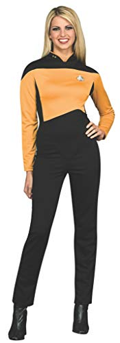 Rubie's Women's Star Trek The Next Generation Deluxe Operations Jumpsuit, Gold, Extra-Small]()
