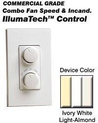 Leviton RTD01-10Z Combo Lighting Control Quiet Step Single-Pole/3-Way 1.5A 120 Volt IllumaTech Decora Style Electro-Mechanical - White Ivory Light Almond (Pkg of 5)