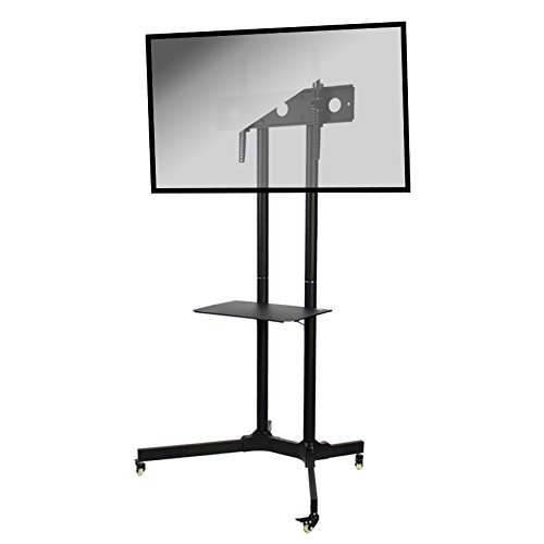 NavePoint Flat Panel TV Cart Height Adjustable 30'' to 65'' Mobile Stand w/Wheels by NavePoint
