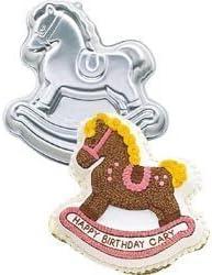 Vintage Wilton Rocking Horse Aluminum Cake Pan 1984 with Instructions 2105-2388