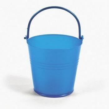 Fun Express Bright Blue Plastic Pails (1 Dozen) (Easter Pail)