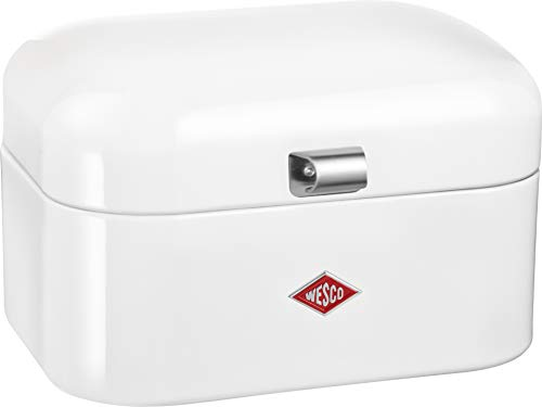 (Wesco Single Grandy - German Designed - Steel bread box for kitchen / storage container,)