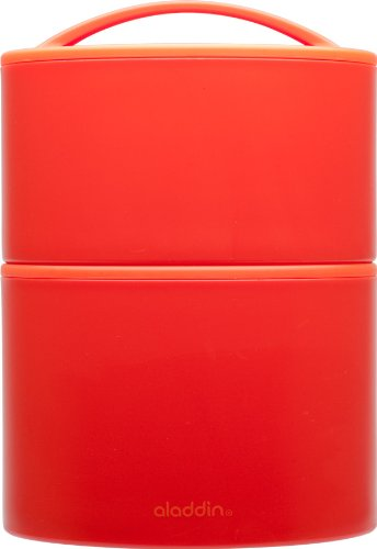 Aladdin Insulated Tiffin Lunch Set, 20oz|12oz, Tomato