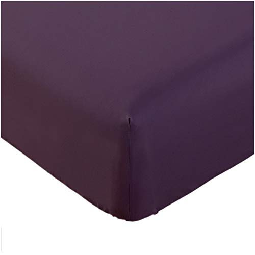 Mellanni Fitted Sheet Queen Purple Brushed Microfiber 1800 Bedding - Wrinkle, Fade, Stain Resistant - Hypoallergenic - (Queen, Purple)