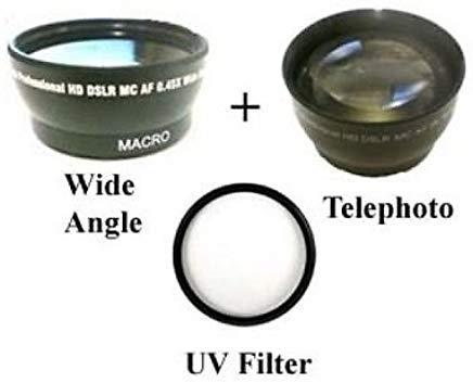ワイドレンズ+望遠レンズ+ UV for Canon HF g20、Canon HF g25、Canon HF g30、Canon hfg30、Canon hfs10   B01DD4A0QI