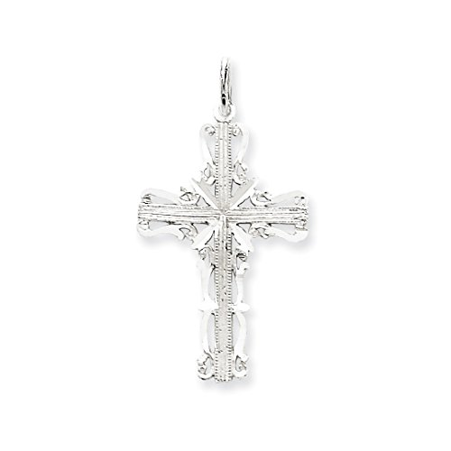 ICE CARATS 14kt White Gold Latin Cross Religious Pendant Charm Necklace Celtic Iona Fine Jewelry Ideal Gifts For Women Gift Set From Heart 14kt Gold Celtic Cross Pendant
