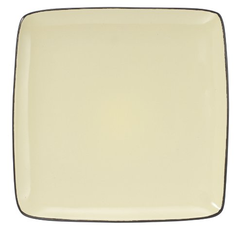 - Cuisinart CDST1-DPY Melle Collection Stoneware Open Stock Square Dinner Plate, 10.5-Inch, Yellow