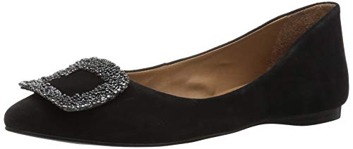French Sole Suede Flats (French Sole FS/NY Women's Posh Ballet Flat, Black 9.5 M US)