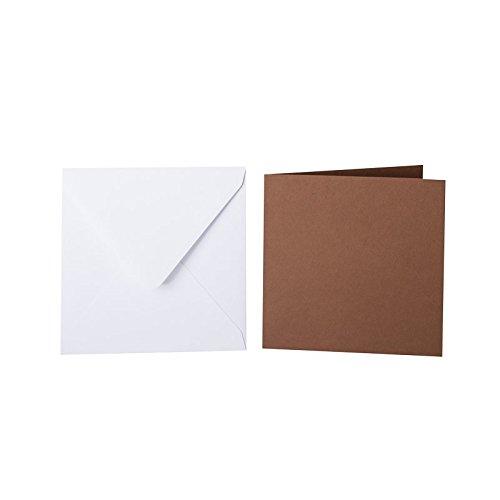 100 quadratische quadratische quadratische Briefumschläge 110 x 110 mm Weiß mit Dreieckslasche, 100g  100 Faltkarten 100 x 100 mm, 240g, Farbe  31 Schoko B015POV82O | Erste Kunden Eine Vollständige Palette Von Spezifikationen  ce945e