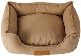 Sile ペットベッド、防水キャンバスケンネルインドア洗えるペットソフトクッション快適な ペットソファSL-011 (色 : ブラウン ぶらうん, サイズ さいず : L l)