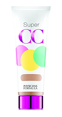 Physicians Formula Super CC Color-Correction + Care CC Cream, Light/Medium 1.2 Ounces, SPF 30 (Best Full Coverage Drugstore Concealer For Acne Scars)