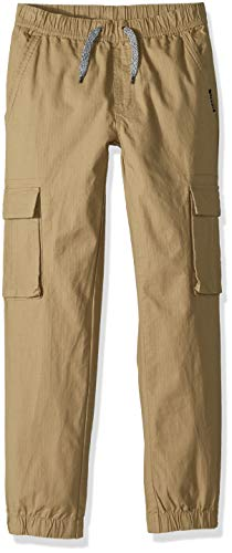 U.S. Polo Assn. Big Boys' Fleece Jogger Pant, Mini Ripstop Dark Khaki, 10